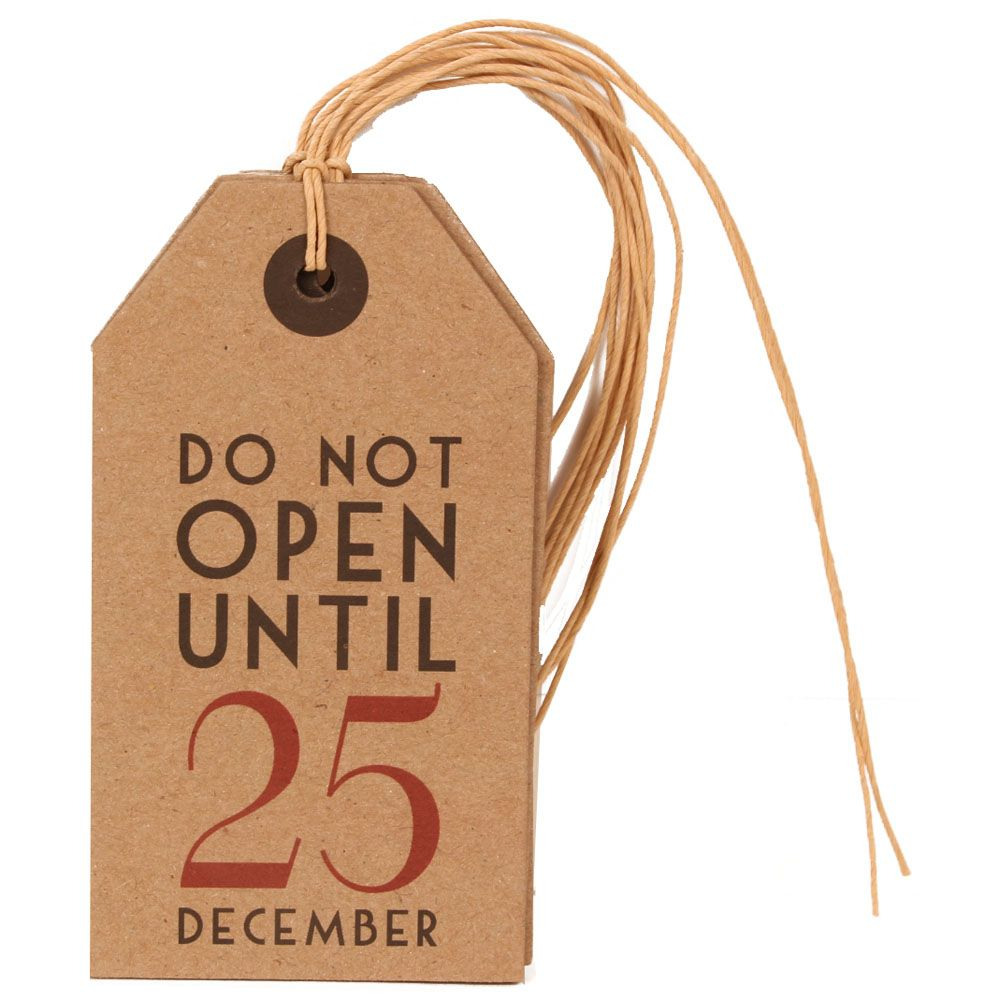 6 x Wooden Gift Tags Do Not Open Until December 25th Embellishments Scrapbooking
