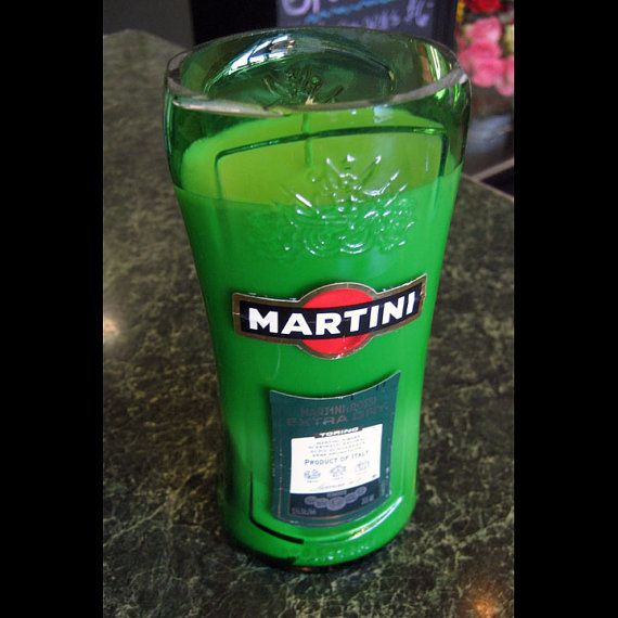 Soy Wax Candle in Recycled Martini by FleurdeLouSoyCandles on Etsy, $17.00