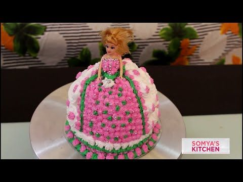 Perfect Homemade Eggless Strawberry Doll Cake Recipe in Hindi For