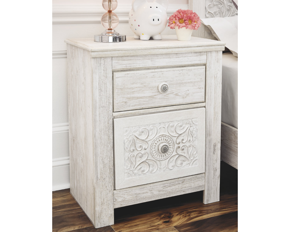 Signature Design by Ashley Paxberry Whitewash Nightstand