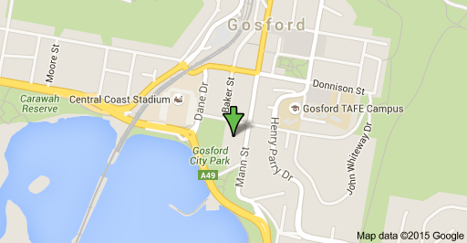 Map of 20 Mann St Gosford NSW 2250 Gosford Site Selected To Start