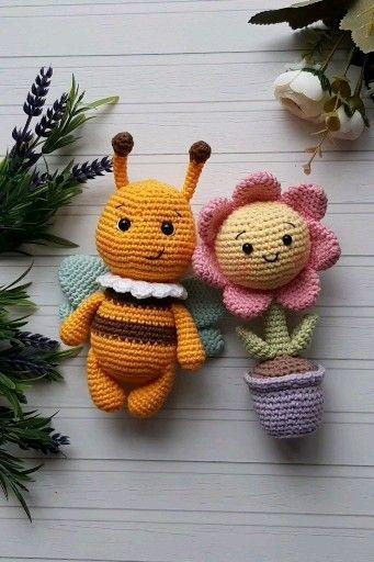 Niedliche Amigurumi Hummel und Blume: Häkelanleitung – Welcome to Blog – Häkeln
