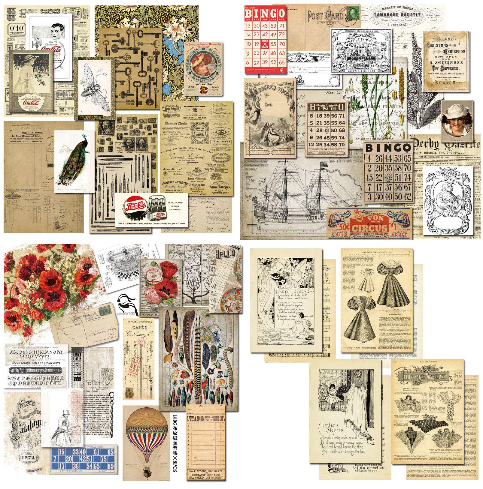 50pcs vintage journaling stickers stickers pack ephemera