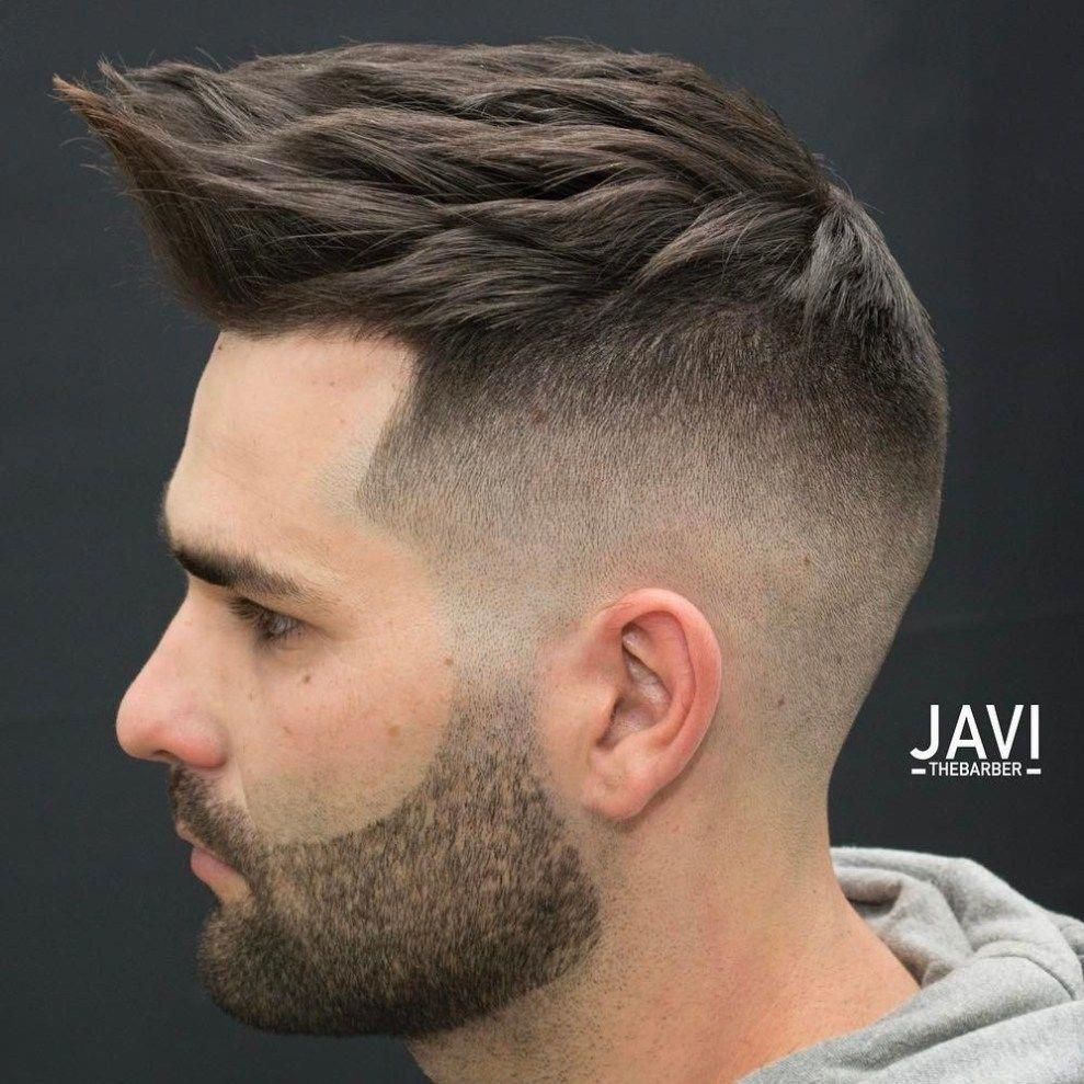 Bald Fade With Spiky Top menshaircuts Hairstyles For Men in