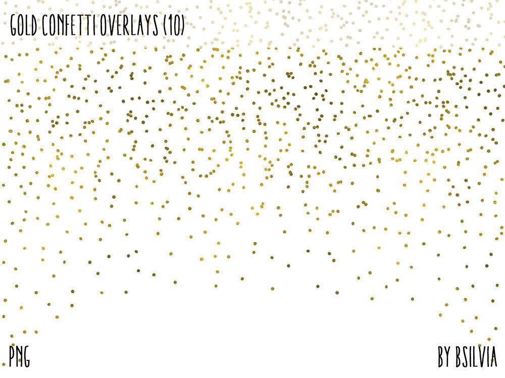 Gold Confetti Overlays Gold Foil Confetti Transparent Png Etsy Overlays Transparent Confetti Photos Photo Overlays