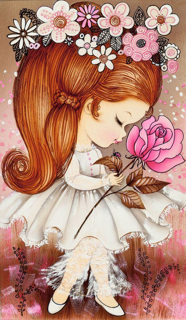 Рыжая девочка открытки, своими руками днем