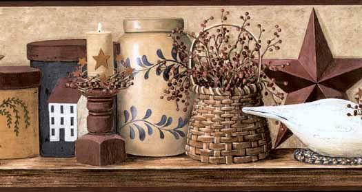 Crackle Beige Birdhouse Wall Paper Border CN1165BDB   Wallpaper U0026 Border |  Wallpaper Inc.