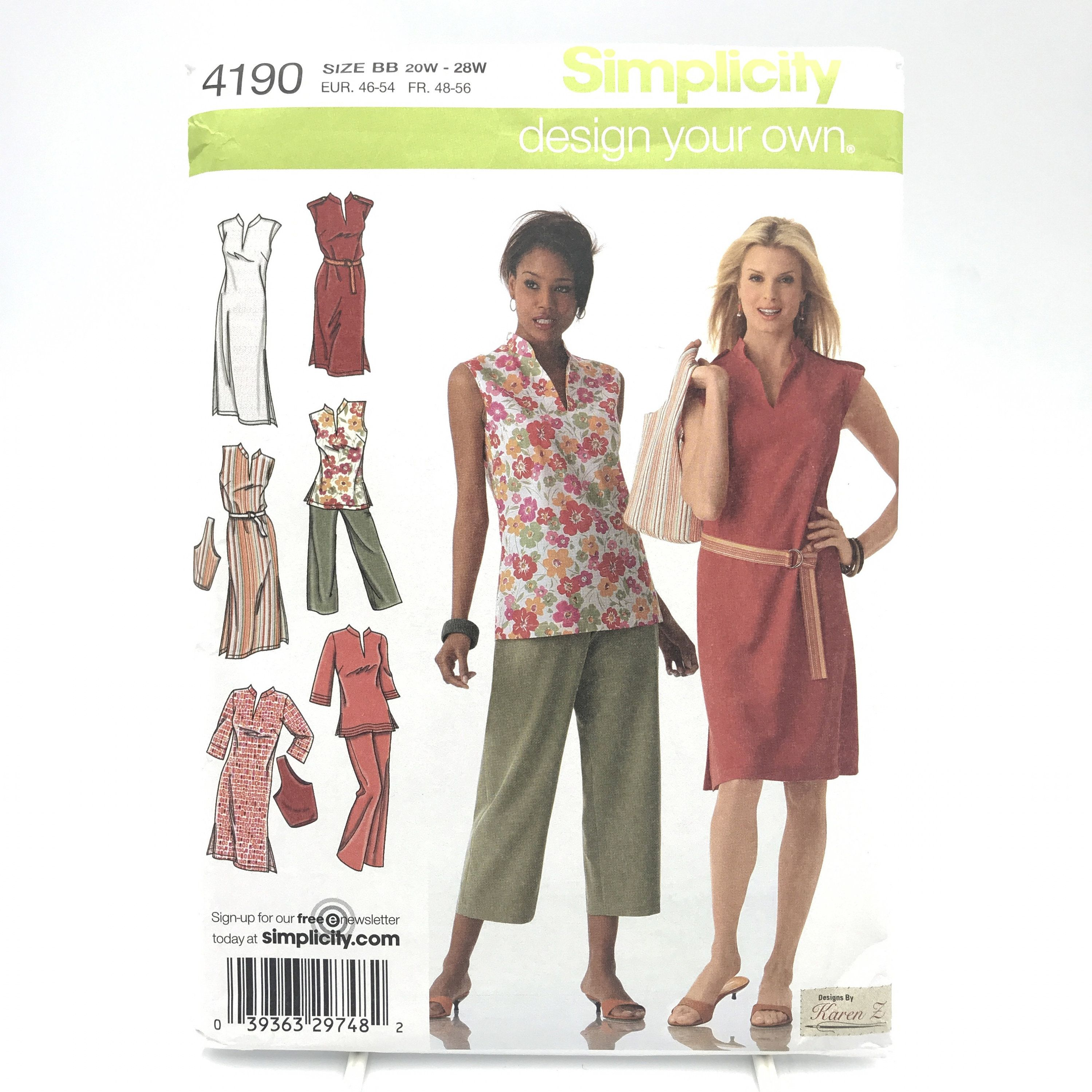 Simplicity 4190 Plus Size Dress 2 Lengths Tunic Cropped ...