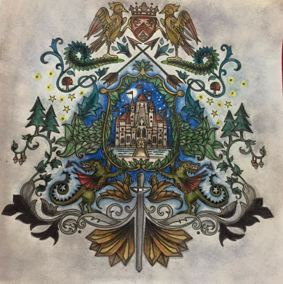 Coat Of Arms Castle Enchanted Forest Brasao Castelo Floresta
