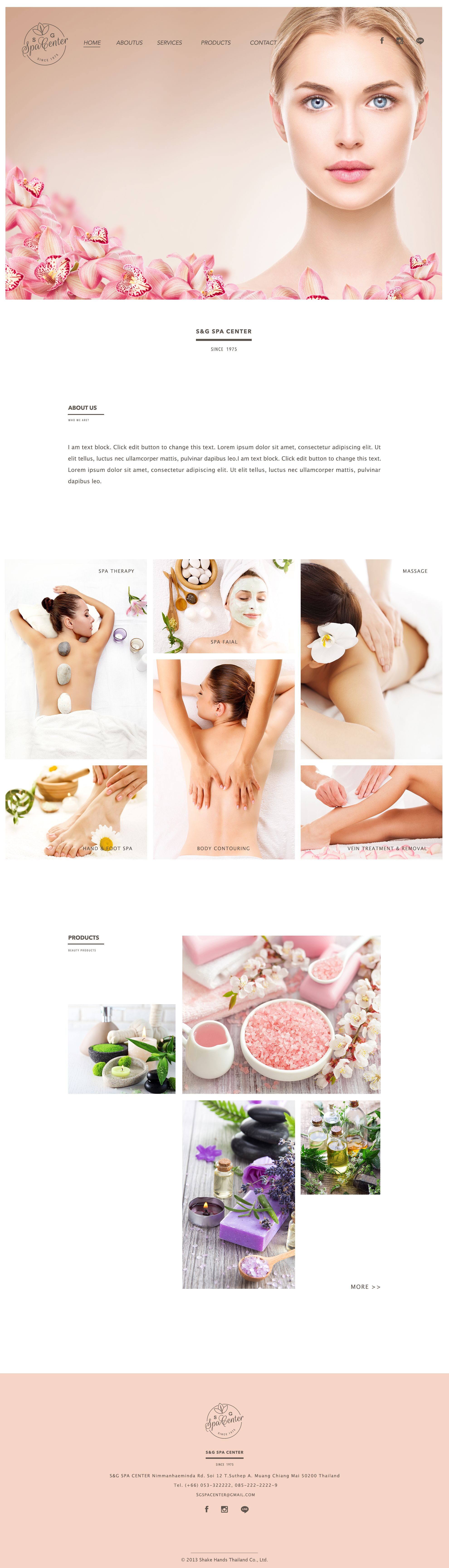 Pin By Jeremee Ang On Web Design Inspiration Web Layout Design Spa Website Beauty Website