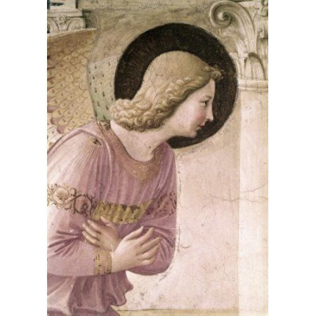 The Annunciation Detail 3 1438-1445 Fra Angelico (ca1395-1455 Italian) Fresco Museo di San Marco Florence Italy Canvas Art - Fra Angelico (18 x 24)