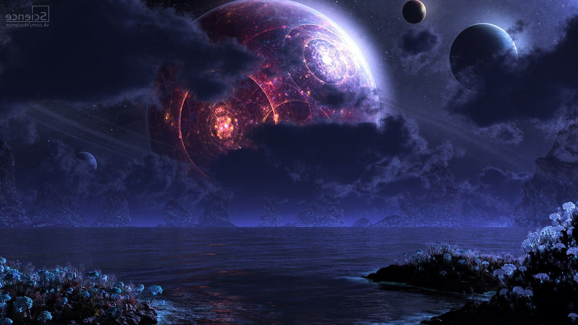 Space Futuristic Wallpaper Planets Wallpaper Space Pictures Planets