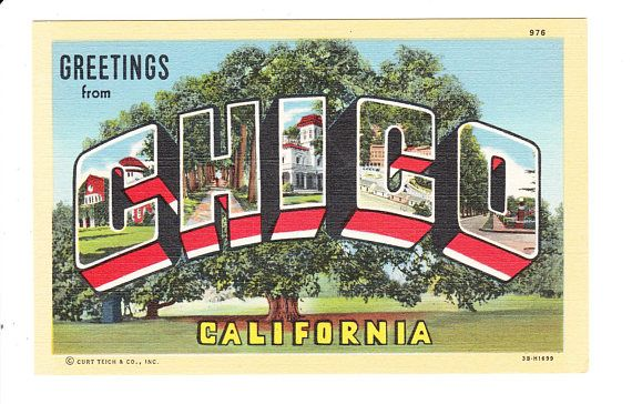 Greetings from chico california vintage large letter postcard greetings from chico california vintage large letter postcard m4hsunfo Gallery