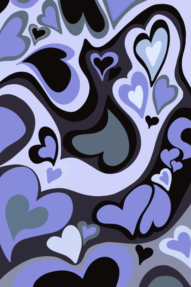 Liquid heart pattern