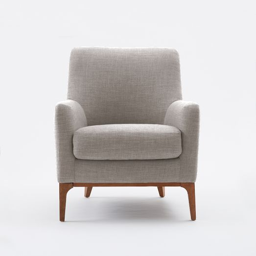 Sloan Upholstered Chair - Solids | West Elm $700 | Furniture | Pinterest