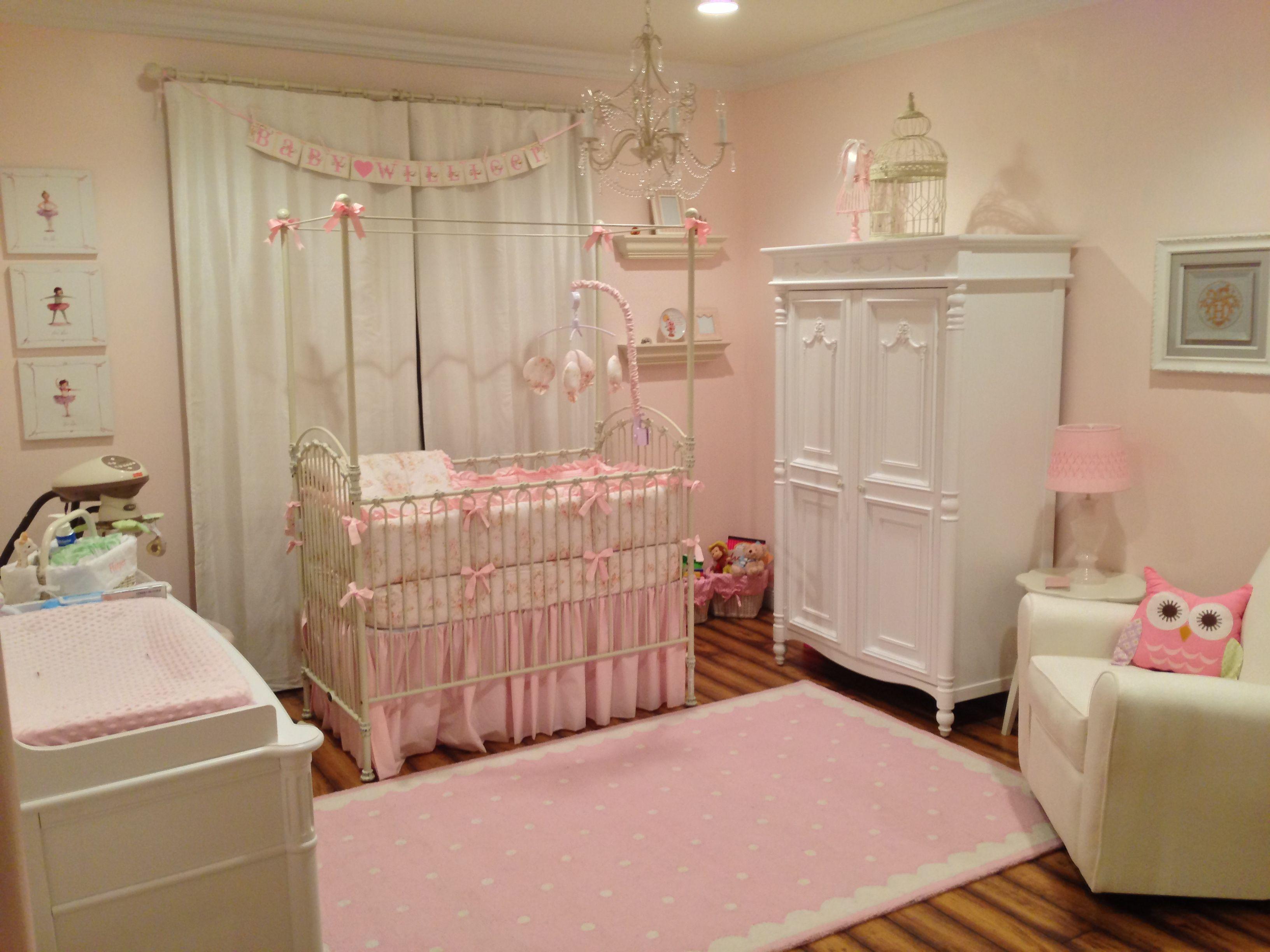 harper barnett's nursery! baby girl nursery. pink and feminine