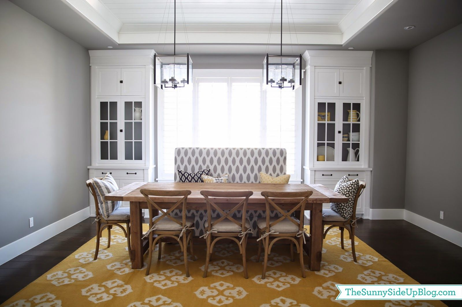 Sunny Side Up Dining Room Decor Update Bench Chairs