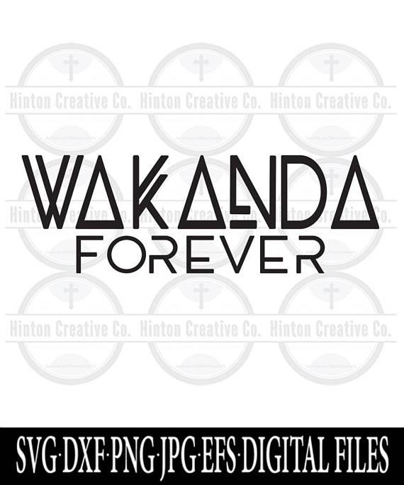 wakanda forever cut file print file svg circuit silhouette