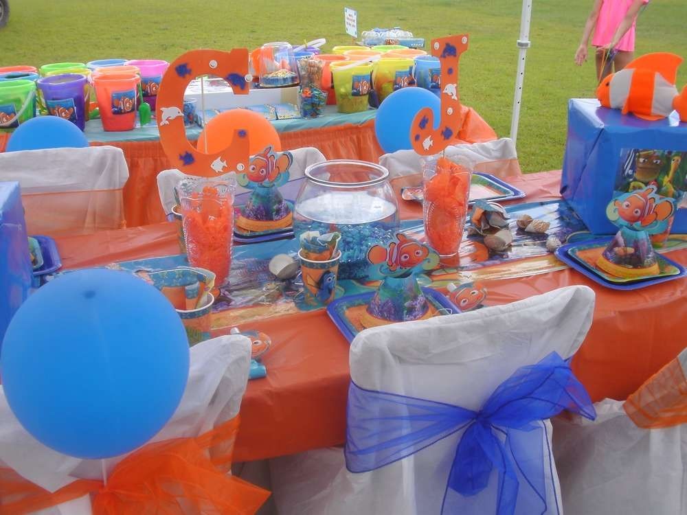 Finding nemo birthday party ideas finding nemo birthday for Nemo decorations