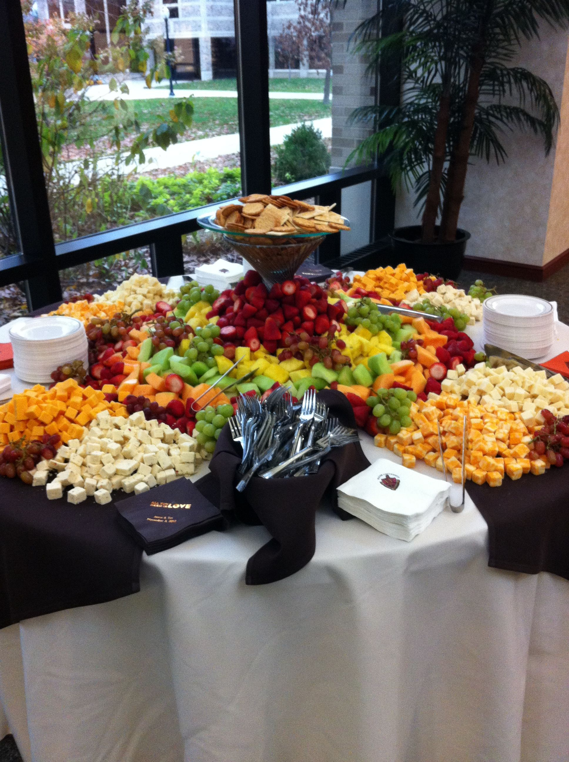 All The Fruit And Cheese You Could Ever Want Wedding Etizers Etizer For After Ceremony