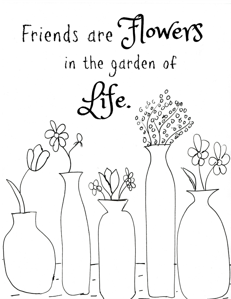 Free Printable Flower Quote Coloring Pages Quote Coloring Pages Flower Printable Printable Flower Coloring Pages