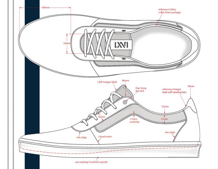 Erik Hernandez Vans Lxvi 7 Shoe Design Sketches Sneakers Sketch Vans