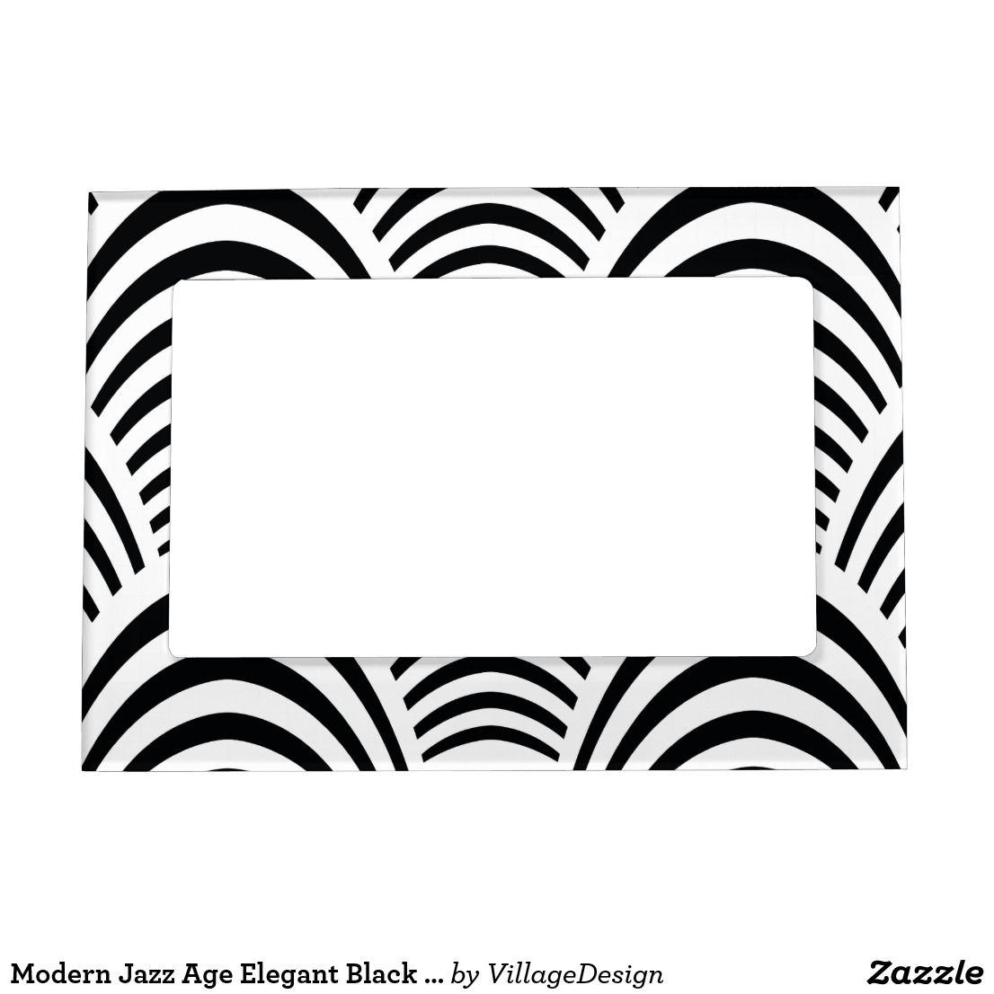 Modern Jazz Age Elegant Black And White S Magnetic