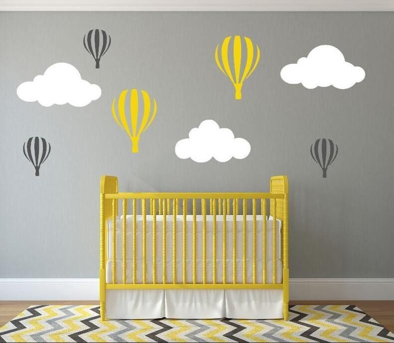Hot Air Balloon Wall Decals | Wall Stcikers for nursery, walldecor ...