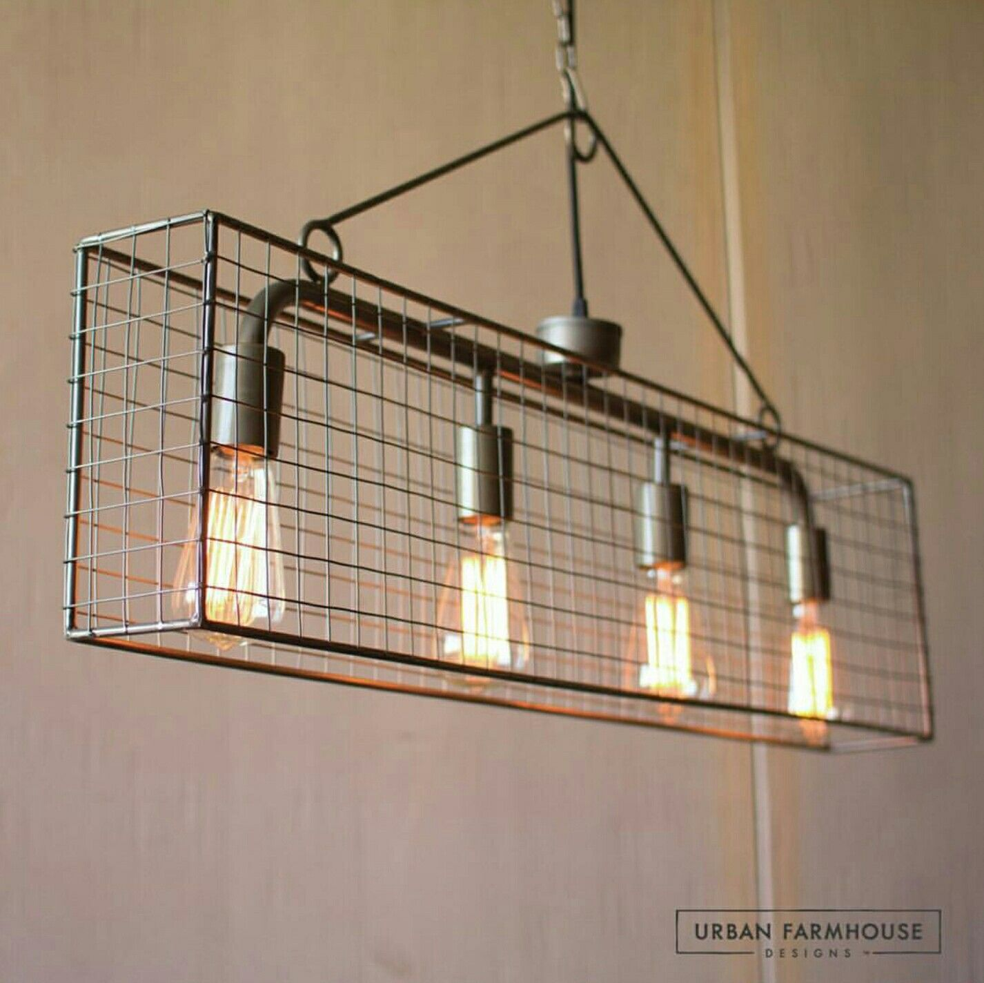 lighting industrial look. This Caged Pendant Boasts An Industrial Look And Fits Stylishly Over A Dining Room Table Or Kitchen Bar. Combined With Our Edison Light Bulbs (sold Lighting I