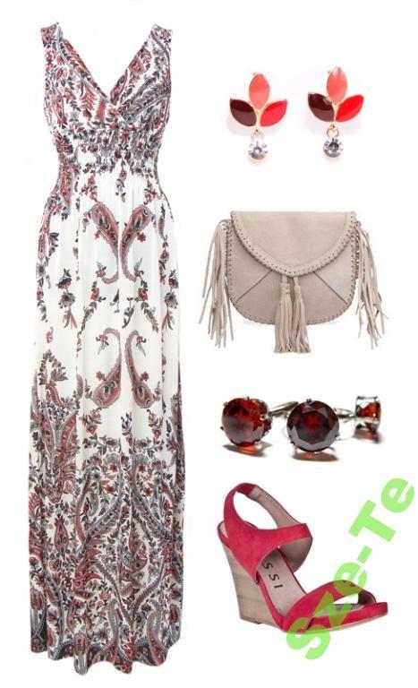 Zwiewna Sukienka Dluga Maxi Aztecka Etniczna Maxi Dress Floral Folk Red Floral Maxi Dress Maxi Dress My Style