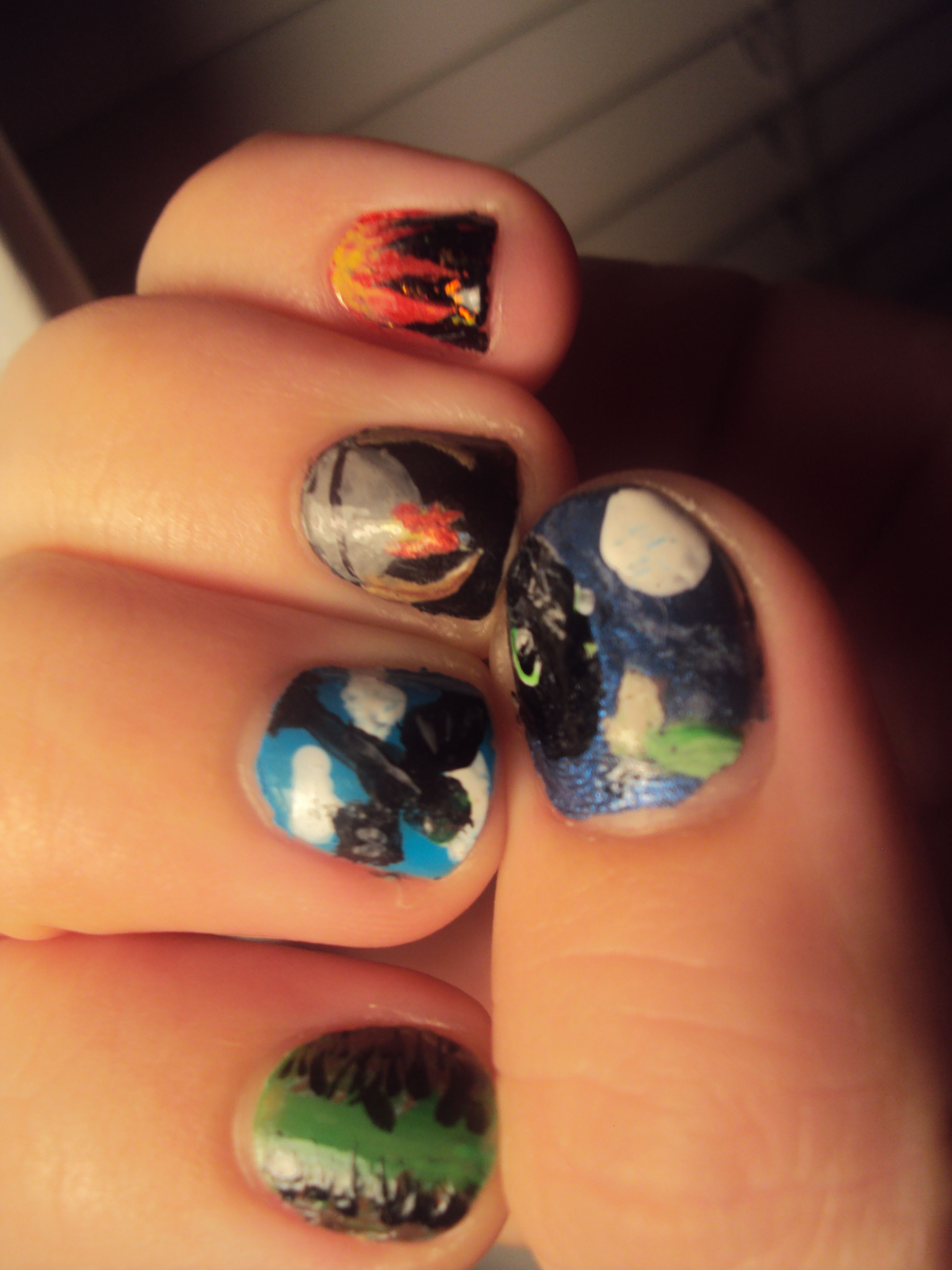 How to Train Your Dragon nails | for the nerd in all of us ...