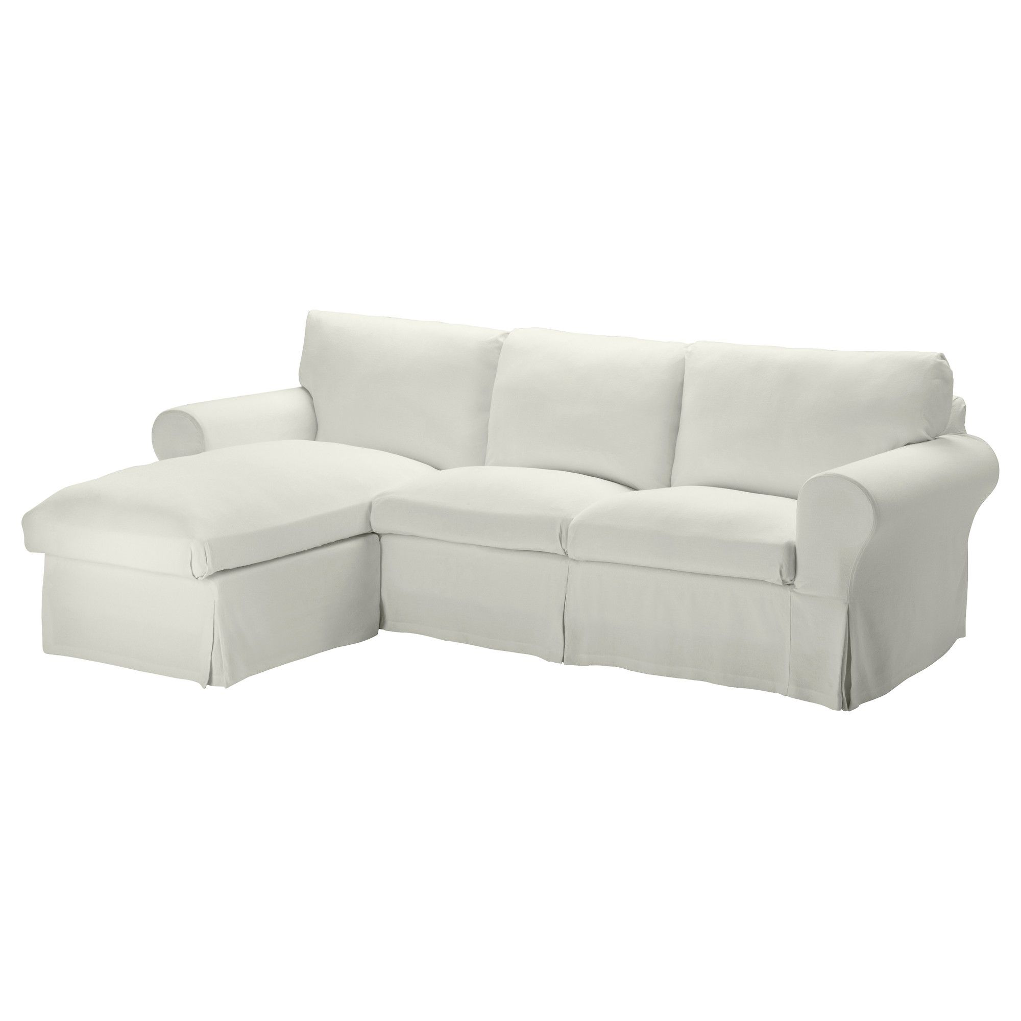 Sofas For Sale EKTORP Cover for loveseat with chaise Sten sa white IKEA