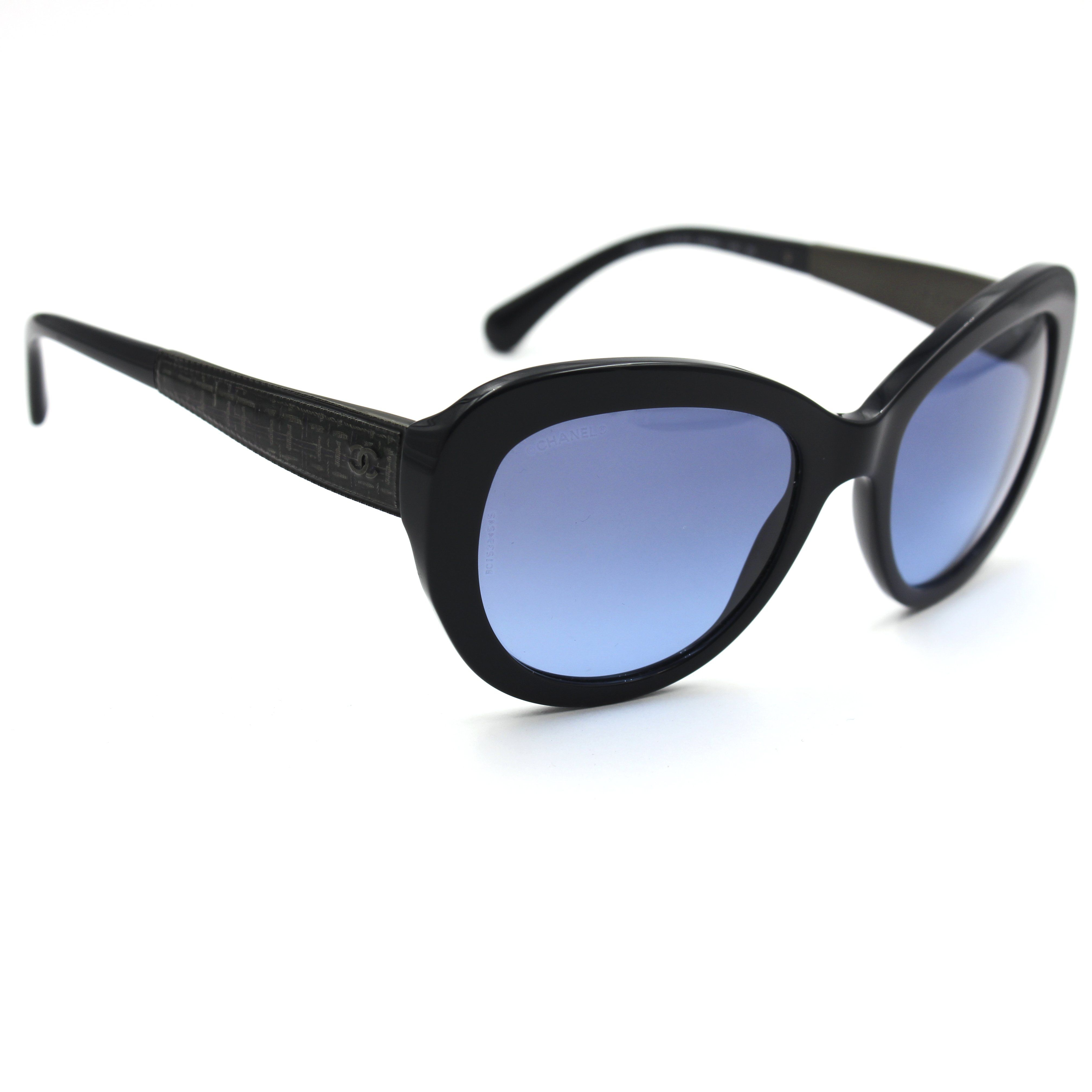 Chanel 5346 Butterfly Sunglasses Dark Blue Frame with Blue Gradient ...