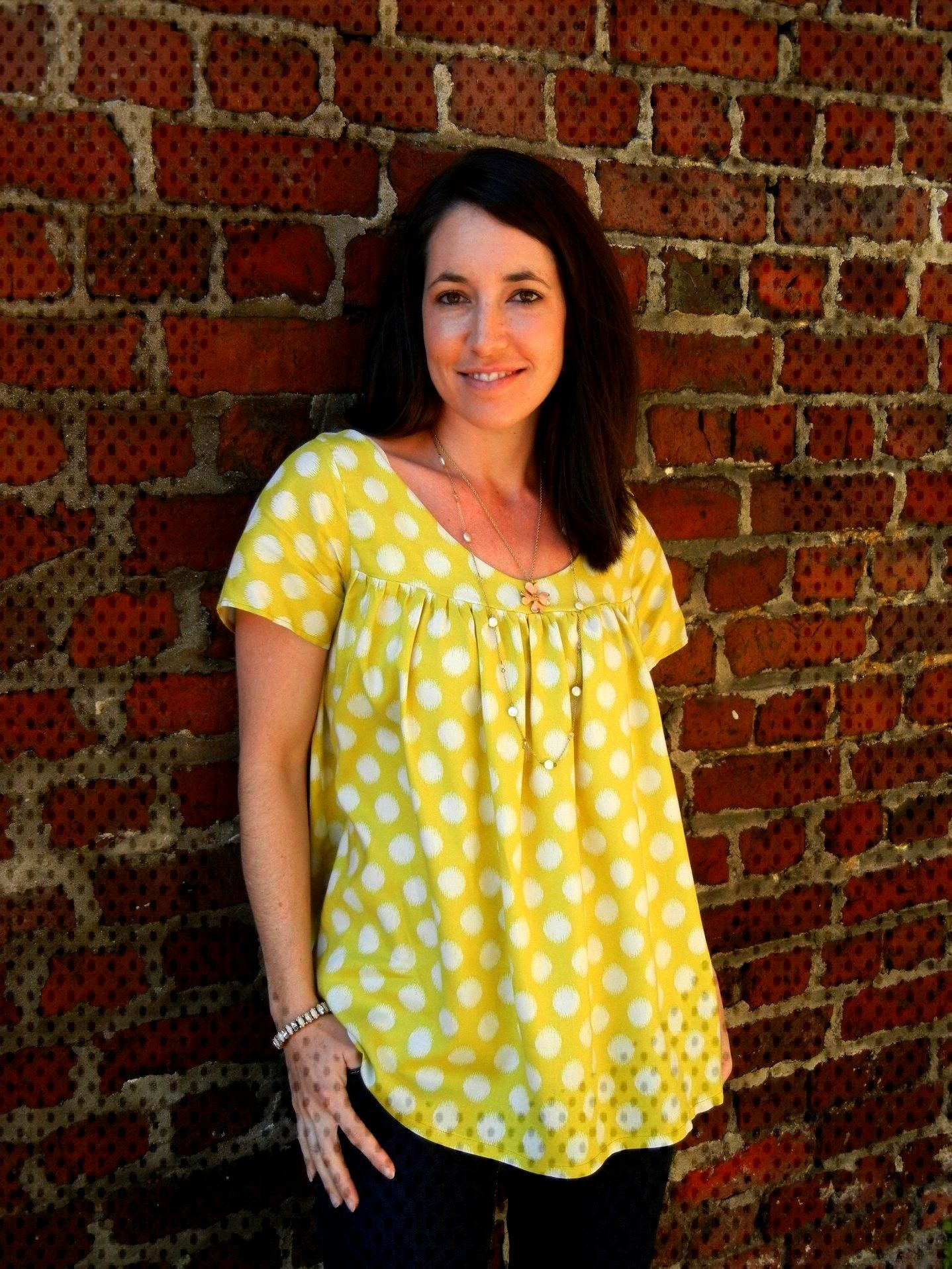 5 Flowing Blouses to Sew | Voila Blouse by Cali Faye | sewn by Sew Charleston | Radiant Home Studi