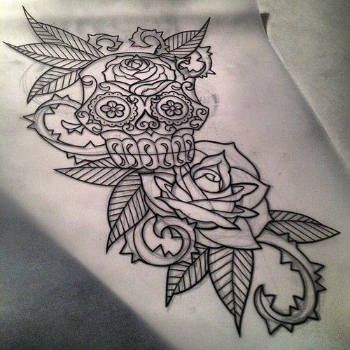 Sugar Skull Upper Arm Tattoo For Women Google Search Arm Tattoos For Women Upper Sleeve Tattoos For Women Sleeve Tattoos
