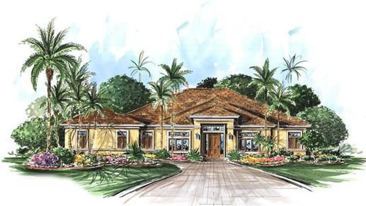 Mediterranean house plans features main floor bed bath for Mediterranean house features