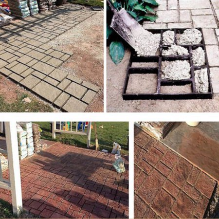 Estink Path Maker Mold,Driveway Pathmate Stone Mold Paving Concrete Stepping  Stone Mould Pavement Paver