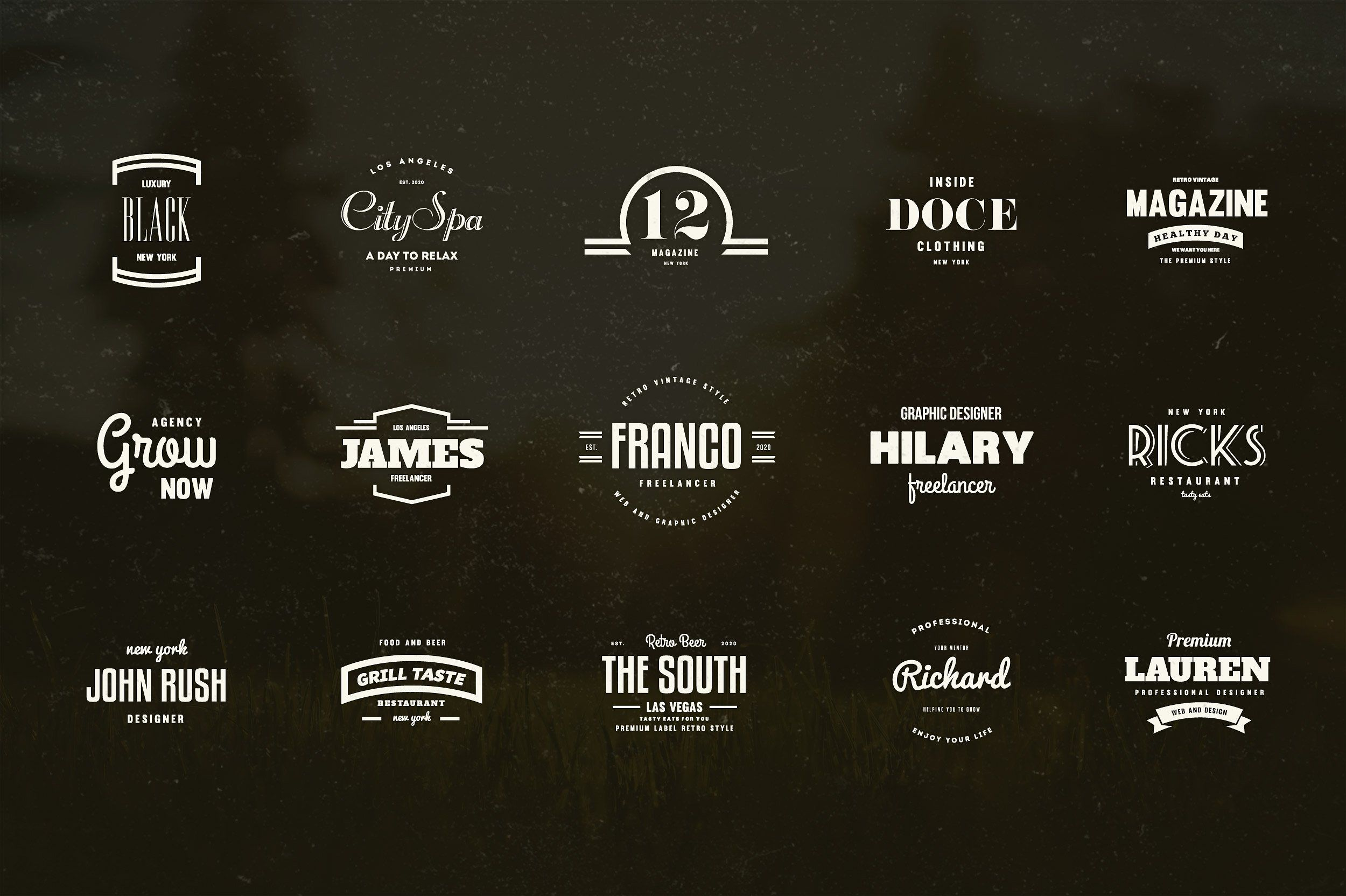 24 vintage logos badges vol 1 logos typography design and 24 vintage logos badges vol 1 reheart Choice Image