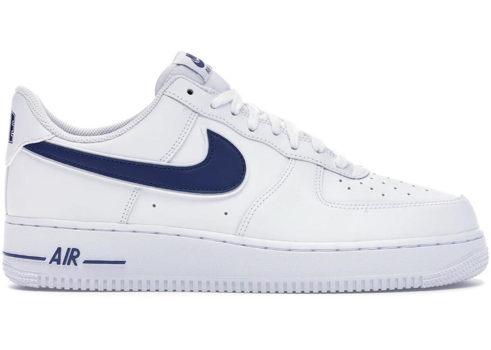 Nike Air Force 1 Low White Deep Royal In 2021 Nike Air Force Nike Air Force