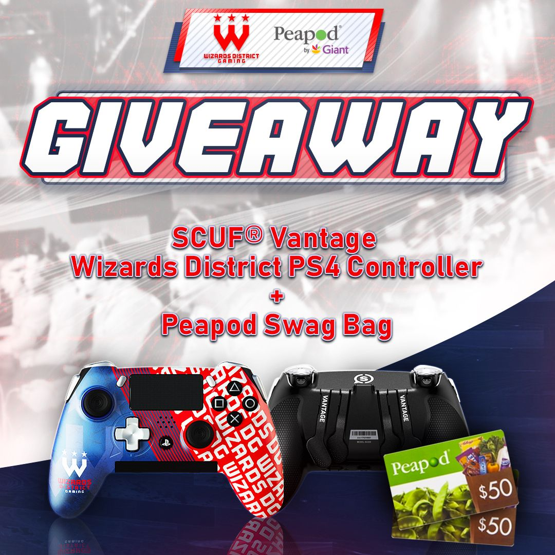 Enter to win a wizards district ps4 controller peapod