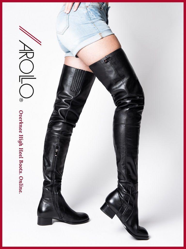 Long Overknee Lady Olga | AROLLO Crotch Overknee Stiefel in