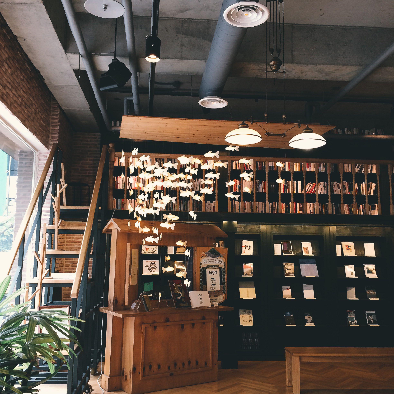 Cute Book Cafe In Seoul South Korea Korea Cafe Korean Cafe
