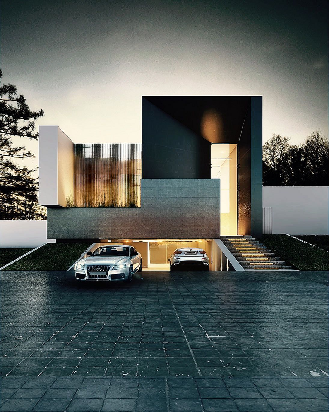 Parking Area Design Modern House