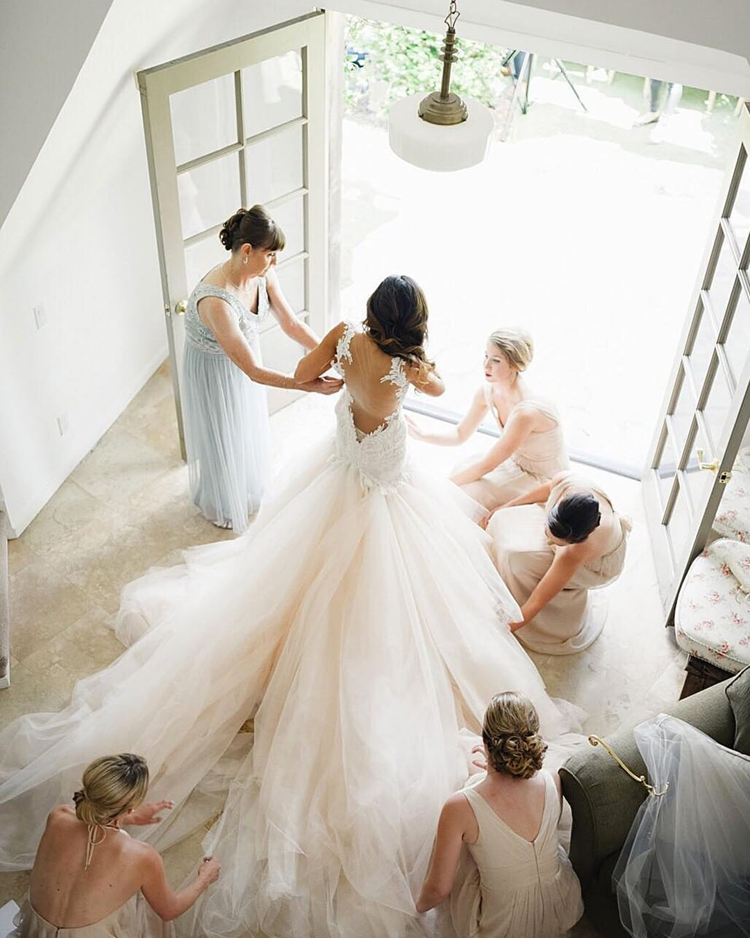 Every bride needs pretty girls around her to make the day stay