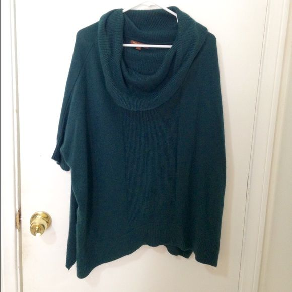 Cowl neck sweater Dark hunter green cowl neck loose sweater. Has a ...