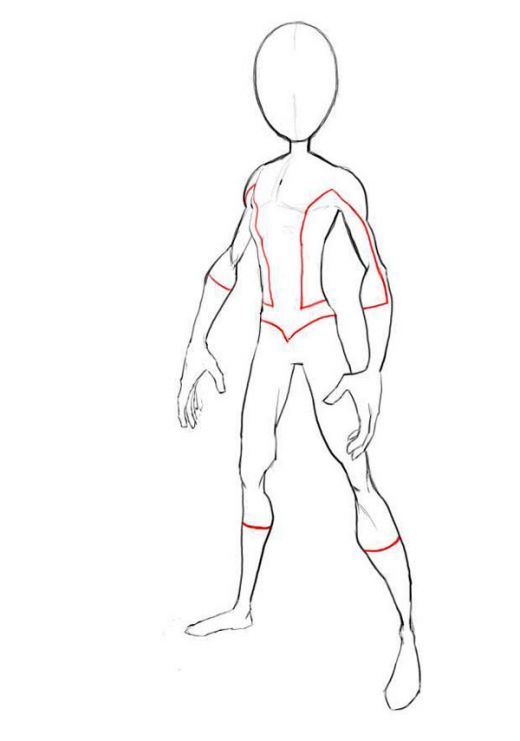 how to draw spiderman body outline in 2018 cartoon pinterest