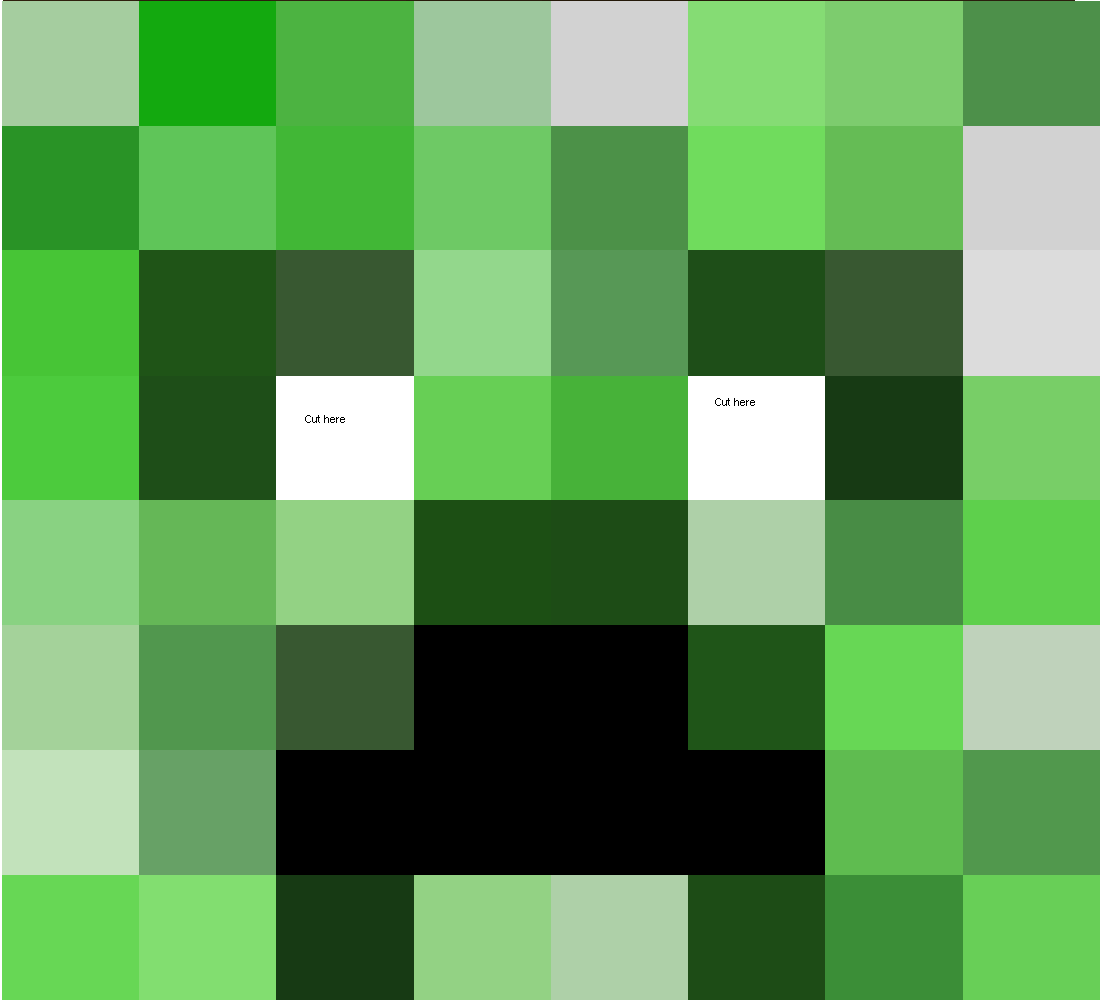 Papercraft Life Size Creeper Head (Improved) | MINECRAFT PARTY ...