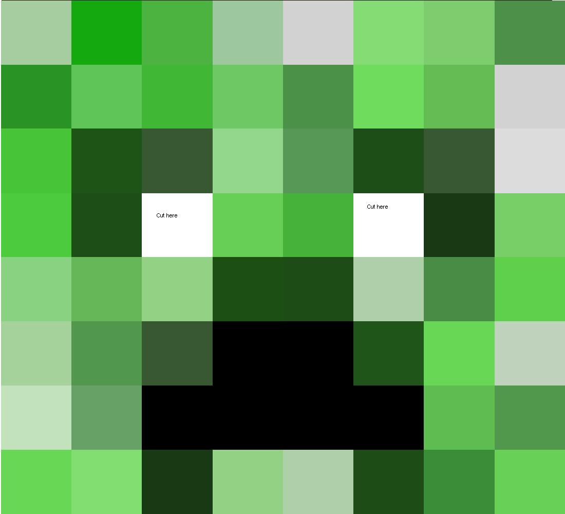 Cómo hacer la cabeza de un creeper de Minecraft, como hacer la ...