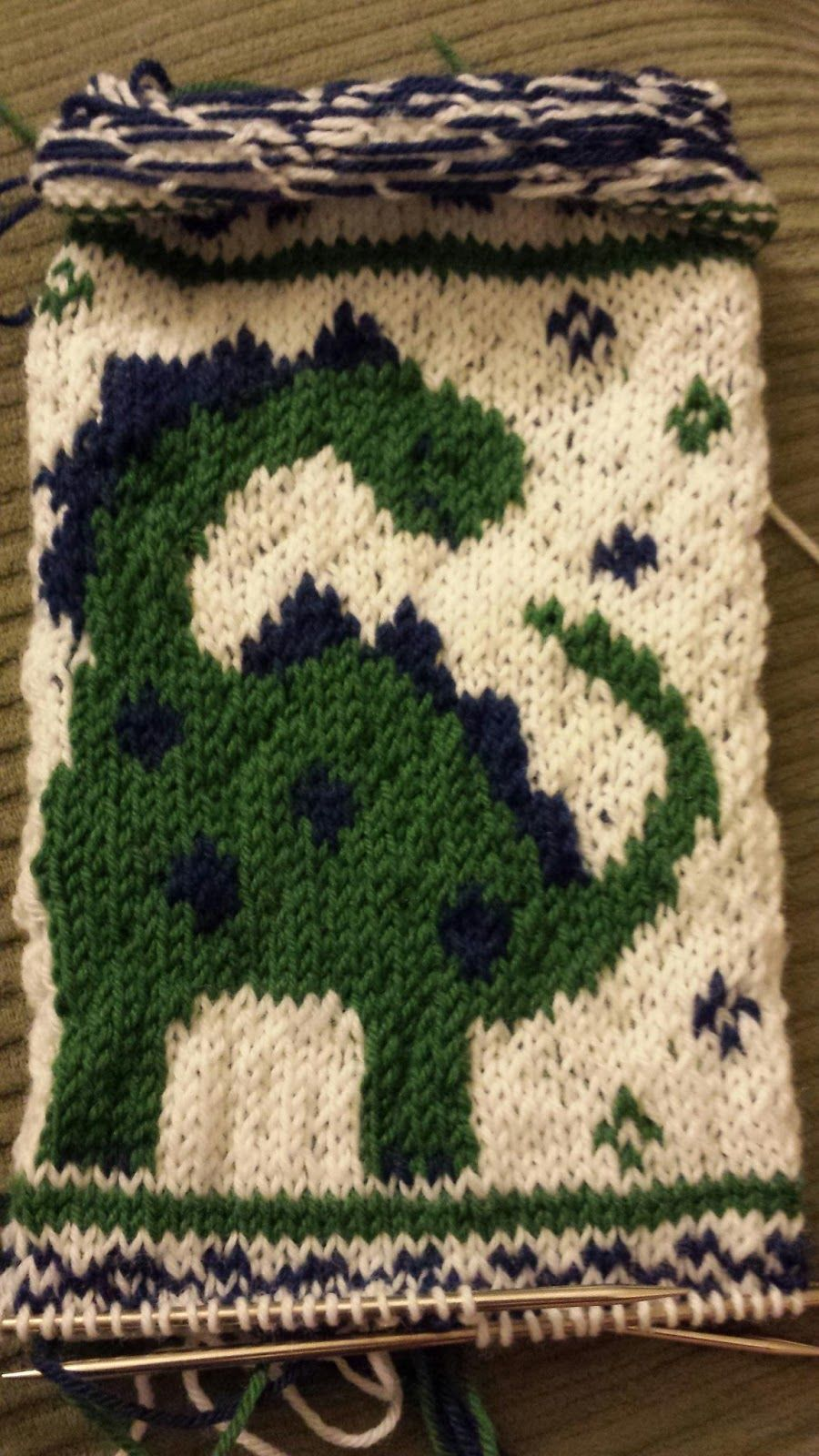 Chemknits dinosaur knitting chart chart is available i just i love the dinosaur i incorporated into my baby christmas stocking design and i thought it would be worth sharing this dinosaur as a st bankloansurffo Choice Image