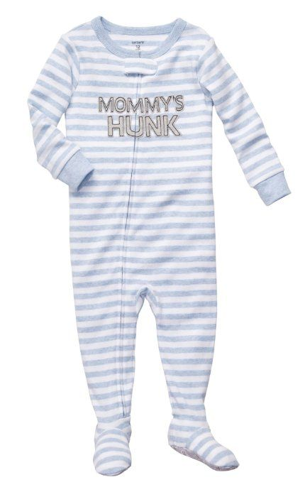 f239dbe1e Amazon.com  Carters Mommy s Hunk Zip Up Sleep   Play  Clothing
